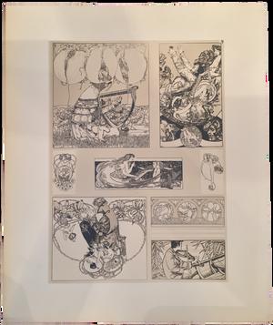 Rare Carl Otto Czeschka Prints, Plate 9