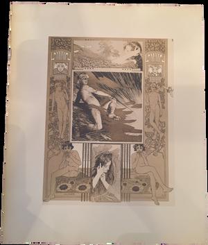 Rare Koloman Moser Prints, Plate 3
