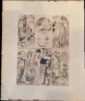 Rare Carl Otto Czeschka Prints, Plate 10