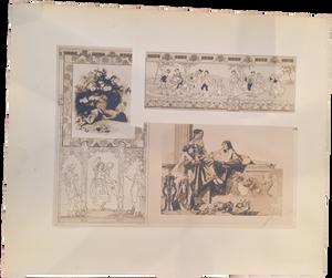 Rare Heinrich Lefler Prints, Plate 14