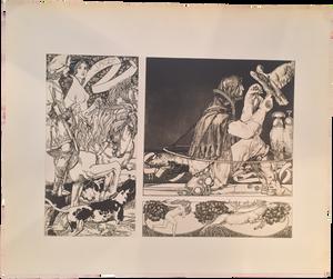 Rare Carl Otto Czeschka Prints, Plate 20