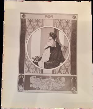 Rare Heinrich Lefler Print, Plate 25