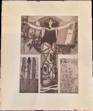 Rare Carl Otto Czeschka Prints, Plate 36