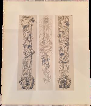 Rare Heinrich Lefler Prints, Plate 35