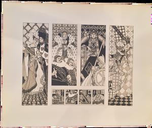 Rare Heinrich Lefler Prints, Plate 31