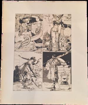 Rare Léo Schnug Prints, Plate 6