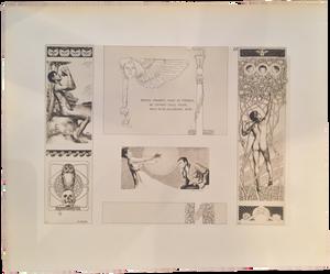 Rare Berthold Löffler Prints, Plate 22