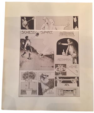 Rare Bertold Löffler, Ex Libris, Plate 13