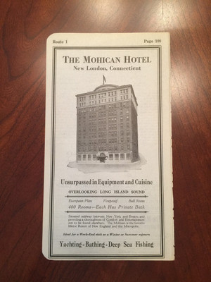 1924 New London, Connecticut Hotel and Garage Ads
