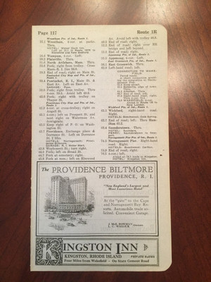 1924 Kingston, RI; Guilford, Old Lyme, and Waterford, CT Hotel Ads