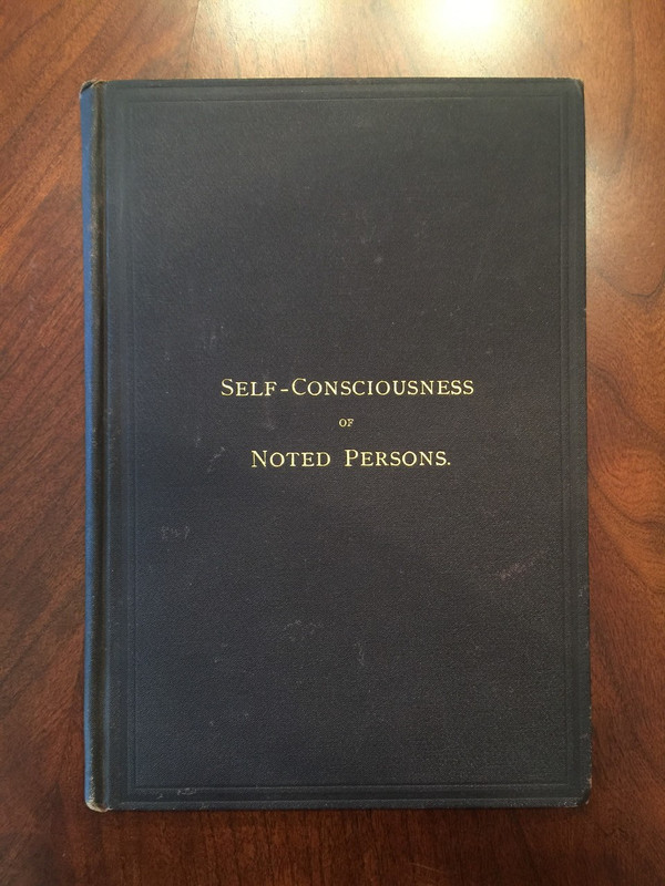 "First Edition ""Self-Consciousness"" Addressed to Civil War General, 1882"