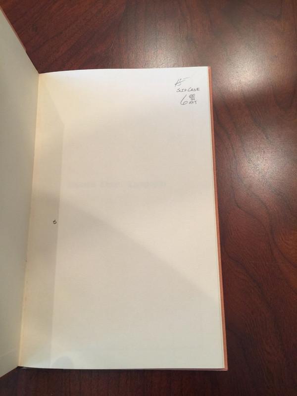Depositio Cornuti Typographici, Signed 1962