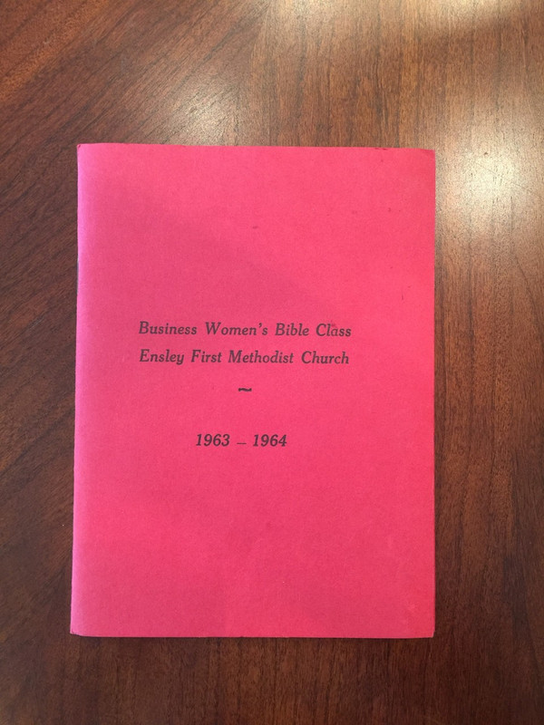Ensley First Methodist Church Women's Bible Class Rosters, Constitution, 1959-64