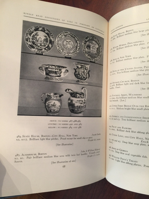1959 China and Glass Catalogue, New York City Auction