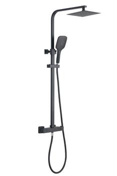 Victoria Premium Black Square Shower Kit