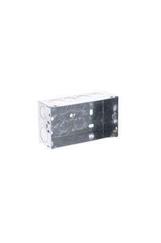 2 Gang 47mm Deep Galv. Box