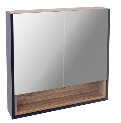 Turin Sapphire Blue Mirror Cabinet
