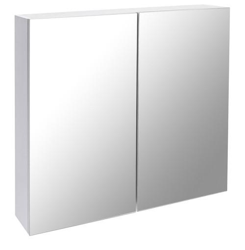 Corfu White 800 Mirror Cabinet