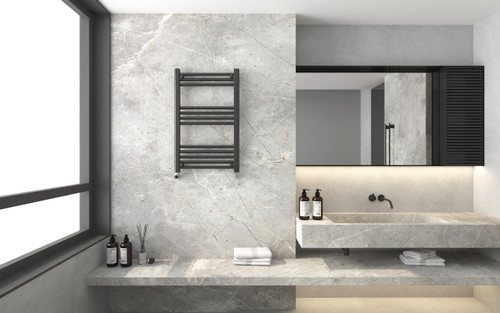 Seattle Straight Black Towel Warmer (800)