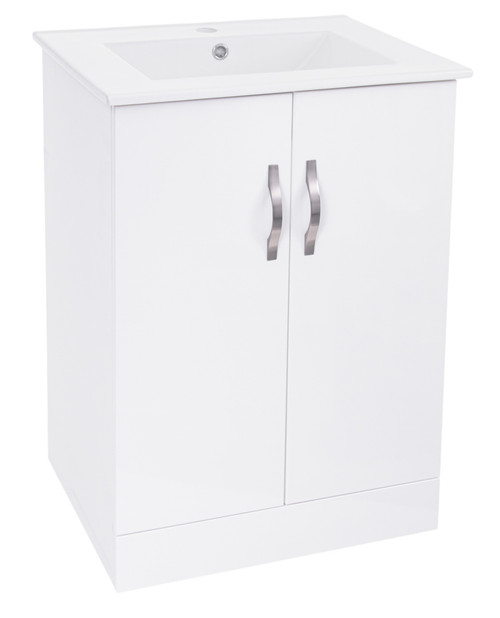Sydney Gloss White 600mm Basin Cabinet