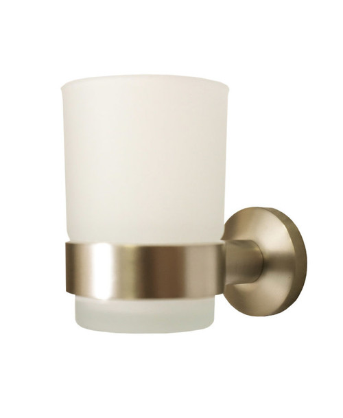 LUCY SINGLE TUMBLER HOLDER - BRUSHED BRASS