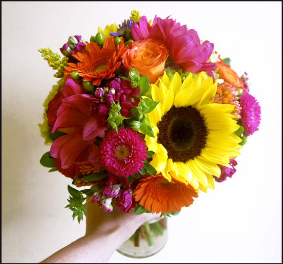 Sunflowers, Dahlias, Asters, Roses and Gerbera Daisies