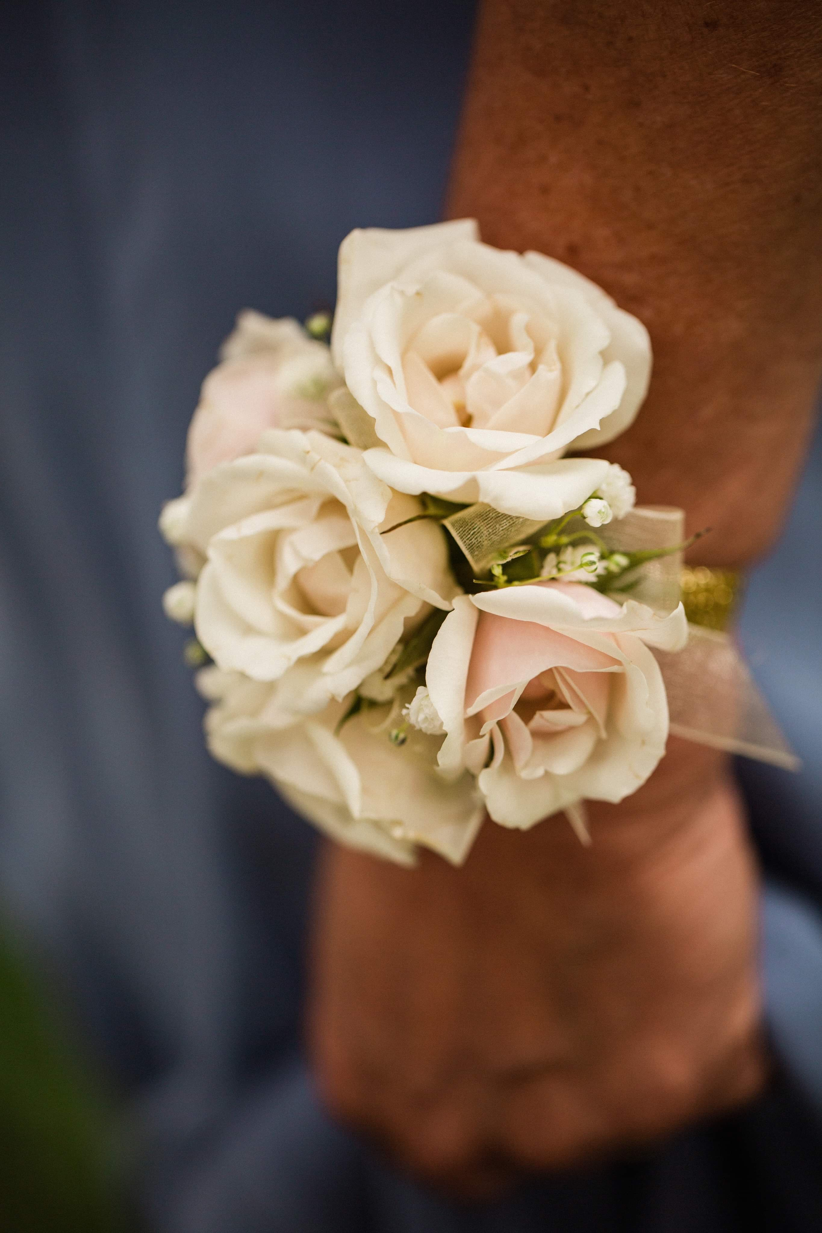 Wrist corsage Kristen Koppers Photography