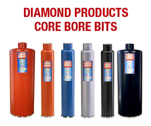"1 3/4"" O.D. Diamond Products Wet Premium Thin Wall Core Bit"