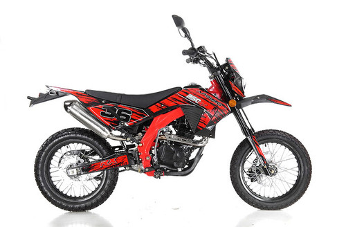 Apollo DB-36 RX250cc DELUXE MANUAL Dirt Bike - Free Shipping, Fully Assembled/Tested