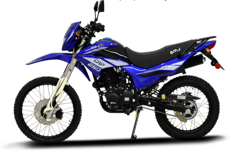 BMS Enduro CRP 250cc Motorcycle - Free Shipping, Free Warranty