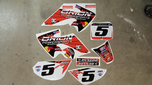 Orion Powersports Red Bull CRF50 Style Graphics
