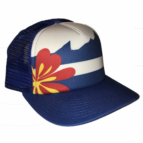 outdoor DIVAS  Colorado Flag Trucker OD Blue