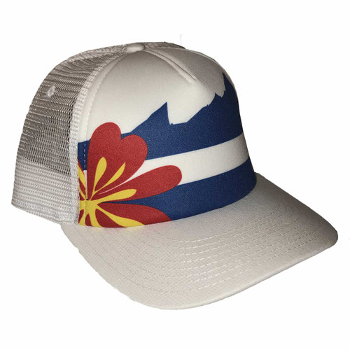 outdoor DIVAS  Colorado Flag Trucker OD White