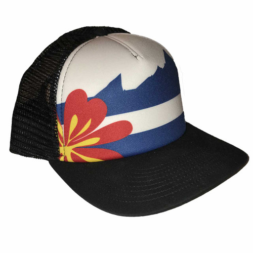 Colorado Flag Trucker OD Black