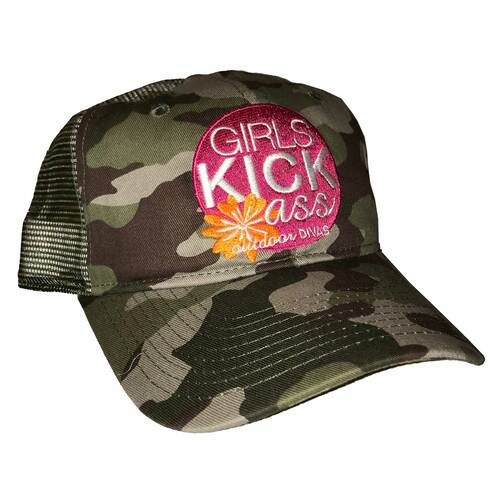outdoor DIVAS  GKA TRUCKER HAT CAMO