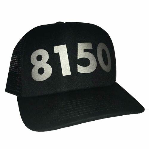 Black 8150 Trucker Hat
