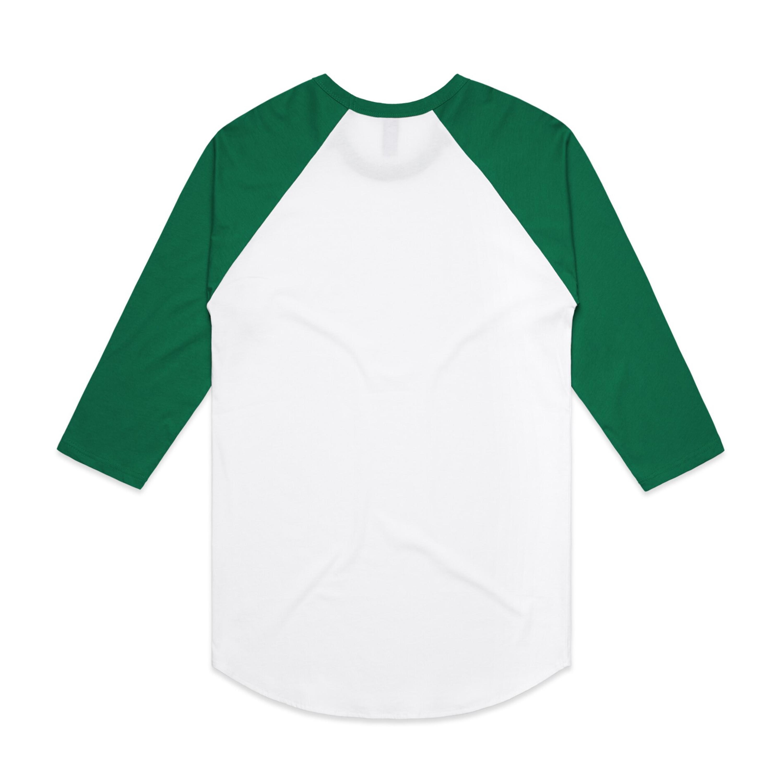 WHITE/KELLY GREEN - BACK