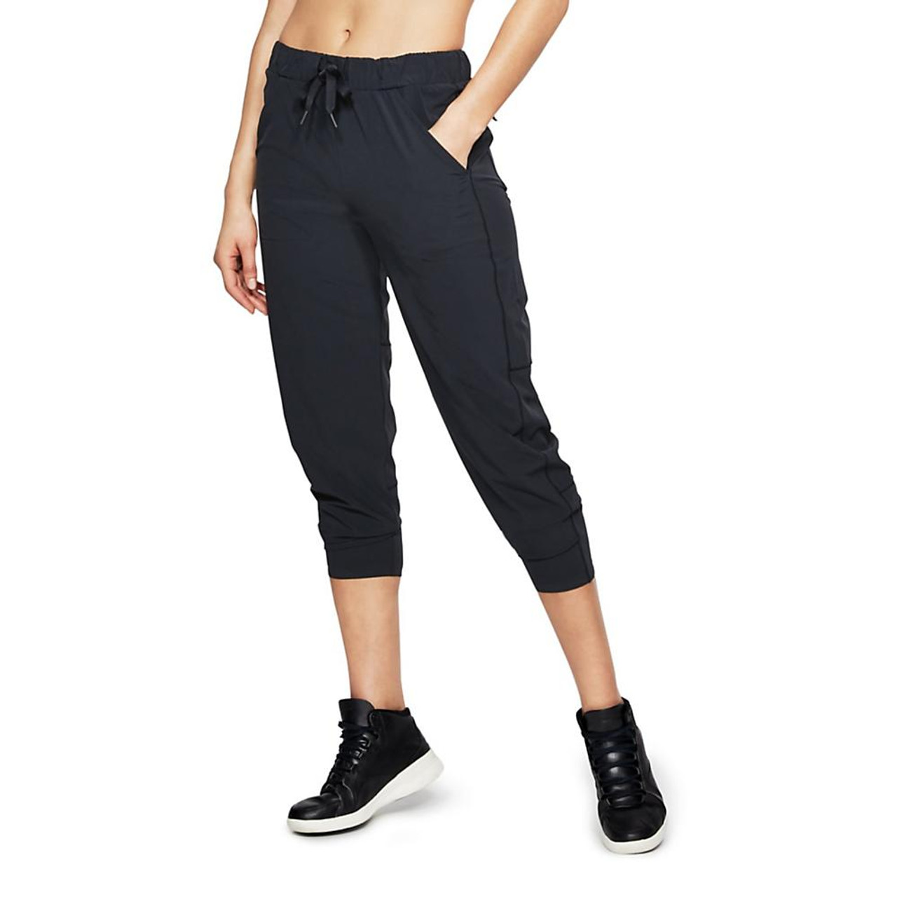 32bc7a41cc2bb9 Women's Under Armour Woven Supply Ankle Crop Storm | Free Shipping