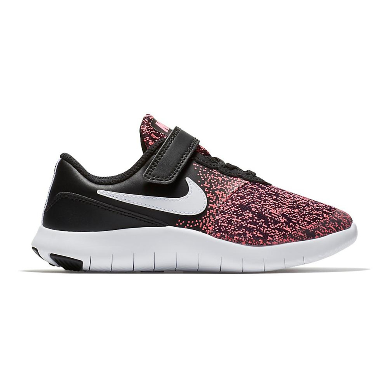 premium selection 50a0a 4b17e Girls Nike Flex Contact Preschool color-Black Pink