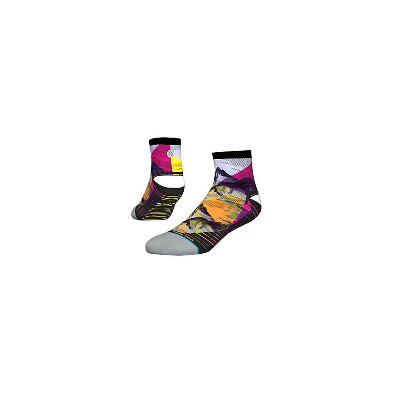 Men's Stance RUN Peaks Quarter Socks