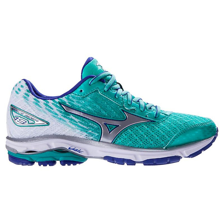 Details about  /Mizuno Wave Rider 19 Women/'s Size 8 Athletic Running Shoes Blue Coral White