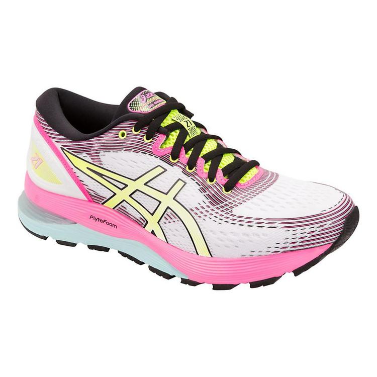 Asics Gel Nimbus 21 Womens Running Shoes Pink