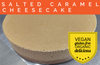 Vegan Salted Caramel Cheesecake