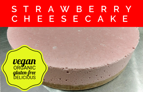 Vegan Strawberry Cheesecake