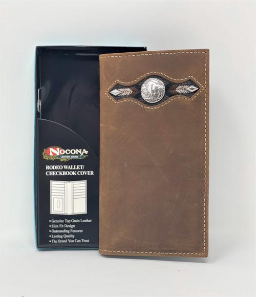 Nocona Distressed Buffalo Nickel Rodeo Wallet