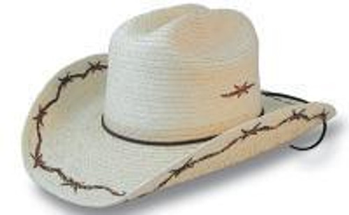 SunBody Kid's Barbed Wire Cattleman Cowboy Hat