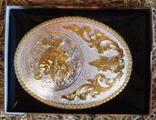 Nocona Saddle Bronc Western Belt Buckle