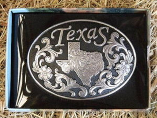 Nocona Texas State Western Belt Buckle