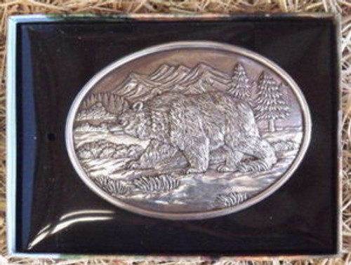 Nocona Large Grizzly Belt Buckle