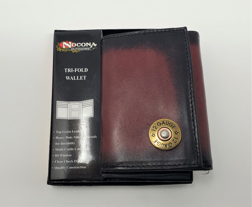 Nocona Leather 12 Gauge Tri-Fold wallet